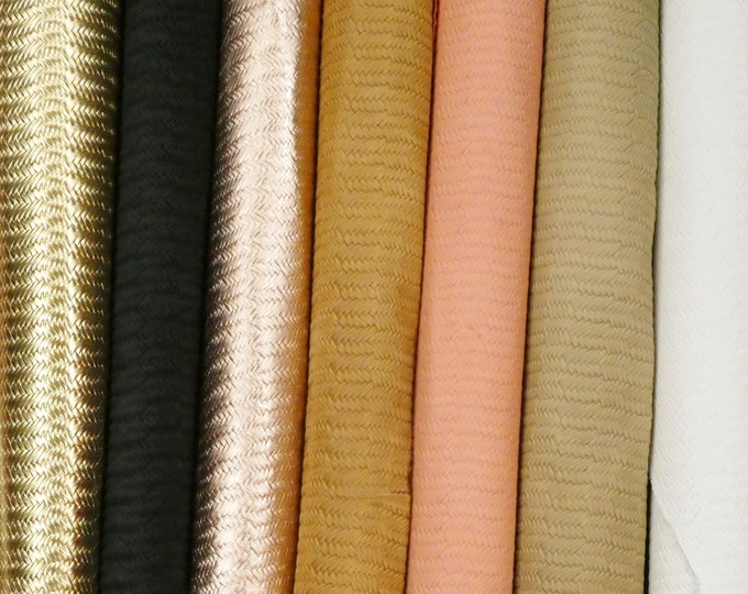 """12 Colors of 12""""x12"""" BRAIDED ITALIAN FISHTAIL Cowhide Leather (Read description!) PeggySueAlso™ E3160 and more colors"""