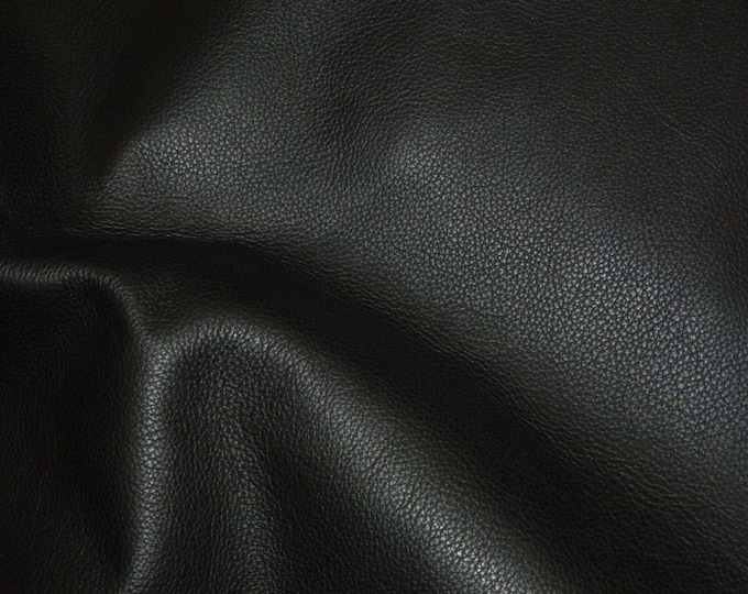 "Leather 12""x20"" or 10""x24"" or? Biker BLACK top grain Cowhide 3.5 oz / 1.4 mm PeggySueAlso™ E2879-04"