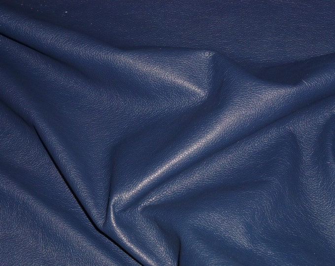"Precut Leather 20""x20"" Divine CATALINA NAVY Blue Top Grain Soft Cowhide 2-2.5 oz/.8-1 mm #605 PeggySueAlso™ E2885-44 Full hides available"