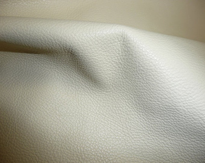 "Leather 20""x20"" Divine EGGSHELL Cream Pebble top grain Cowhide 2.5oz / 1mm PeggySueAlso™ E2885-15 Full hides available"