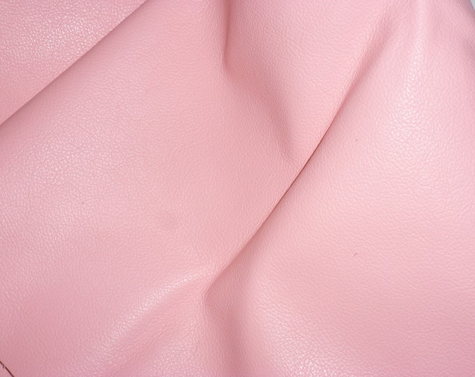 "Leather 20""x20"" Divine SOFT PINK Cowhide top grain 2.5 oz / 1 mm PeggySueAlso™  E2885-27 Full Hides Available"