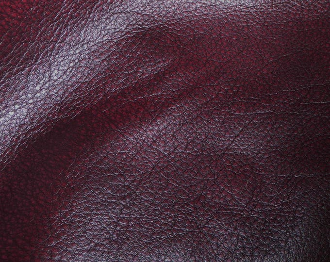 """Leather 12""""x12"""" Bomber King CHERRY WINE Marbled SOFT Cowhide 3-3.25oz / 1.2-1.3mm PeggySueAlso™ E2882-02 Full hides available"""