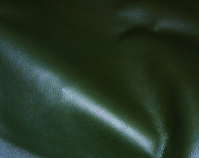 """Leather 8""""x10"""" Duchess collection FOREST GREEN (a thinner KING) Cowhide 2.25-2.75 oz / 0.9-1.1 mm PeggySueAlso™ E2080-07 Hides available"""