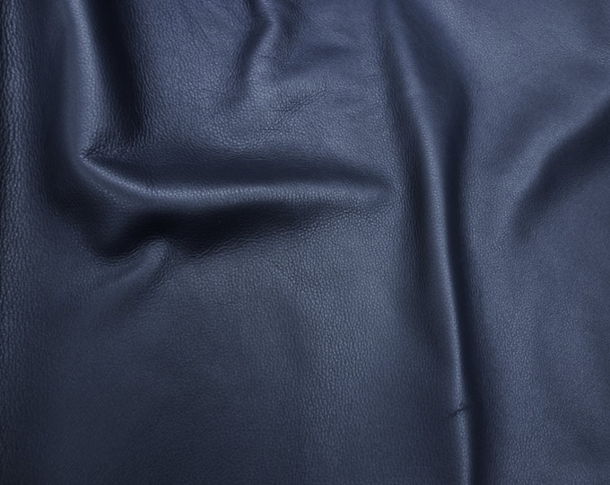 """Leather 8""""x10"""" King CATALINA NAVY Blue full grain Pebbled Buttery Soft Cowhide 3-3.5oz/1.2-1.4mm PeggySueAlso™ E2881-01 Full hides too"""