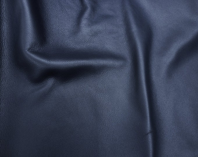 "Leather 12""x20"", 10""x24"" King  CATALINA NAVY Blue full grain Pebbled Buttery Soft Cowhide 3-3.5oz/1.2-1.4mm PeggySueAlso™ E2881-01"