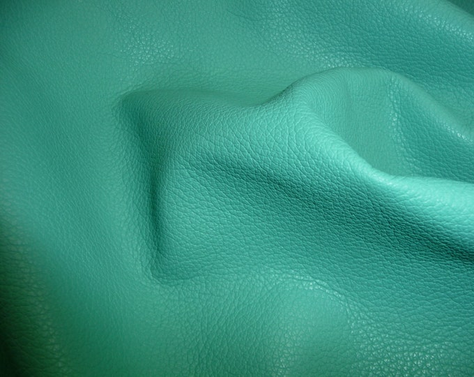 "Leather 8""x10"" Divine AQUA Top Grain Cowhide - 2-2.25 oz / 0.8-0.9 mm -  PeggySueAlso™ E2885-13 Hides Available"