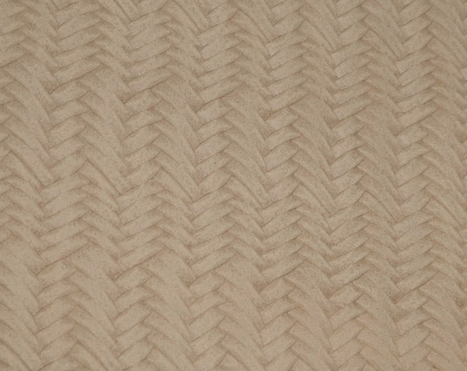 "Leather 8""x10"" Braided Fishtail DESERT SAND Cowhide soft USA 3.25-3.5 oz / 1.3-1.4 mm PeggySueAlso™ E3160-58 hides available"