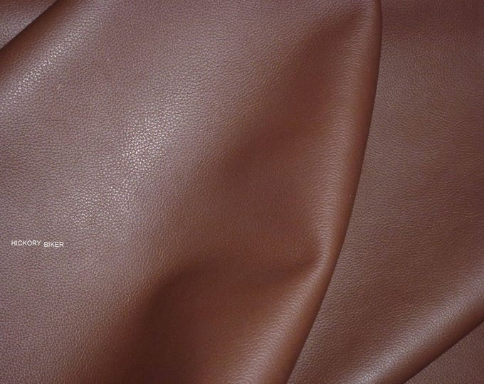 """Leather 12""""x12"""" Biker HICKORY Brown Thick Cowhide 3-3.5 oz / 1.2-1.4mm PeggySueAlso™ E2879-09"""