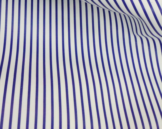 Leather 3 or 4 or 5 sq ft PTR Royal Blue stripes on White Medium firm(not real soft)Cowhide 2.5-3oz/1-1.2mm PeggySueAlso™ E3097-03