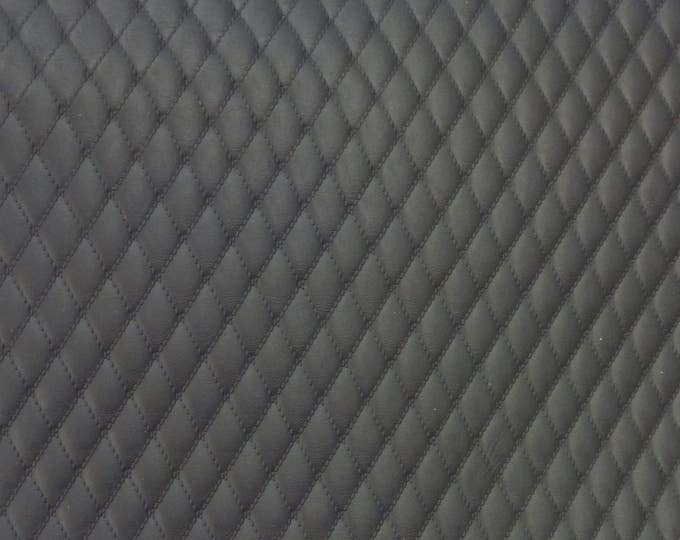 """Leather 5""""x11"""" QUILTED Shadow GRAY 1/2"""" Pattern Cowhide (READ description before purchase) 2.5-3 oz / 1-1.2 mm #520 PeggySueAlso™ E2911-09"""