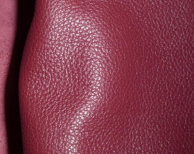 "Leather 12""x12"" Divine CRANBERRY Top Grain Cowhide 2.5 oz/1 mm PeggySueAlso™ E2885-35 Full hides available"