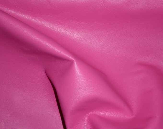 """Leather 12""""x12"""" Duchess collection HOT PINK (a thinner KING) Cowhide 2.25-2.75 oz / 0.9-1.1 mm PeggySueAlso™ E2080-02 hides available"""