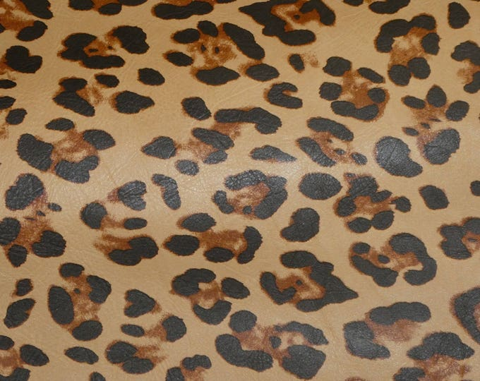 Leather 3 or 4 or 5 or 6 sq ft DESERT Cheetah Leopard Print SOFT Grain NOT hair on Cowhide 2.5oz /1mm PeggySueAlso™ E6740-01 Hides Available