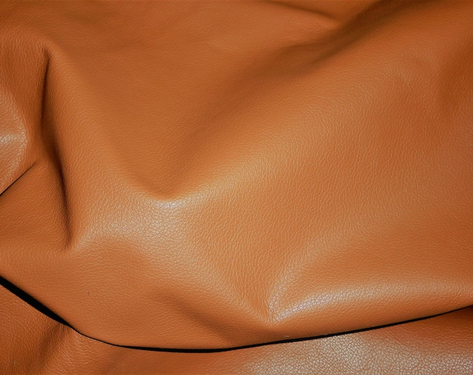 "Leather 8""x10"" Divine WILLOW Caramel Tan Top Grain Cowhide 2-2.5 oz/0.8-1 mm PeggySueAlso™ E2885-18 Hides Available"
