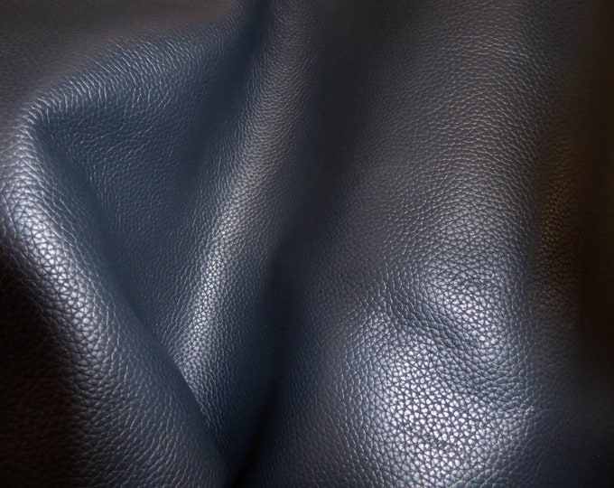 "Leather 12""x20"" or 10""x24"" or 15""x15"" Biker NAVY BLUE Top Grain Soft Cowhide 3-3.5 oz / 1.2-1.4mm PeggySueAlso™ E2879-05 Hides Available"