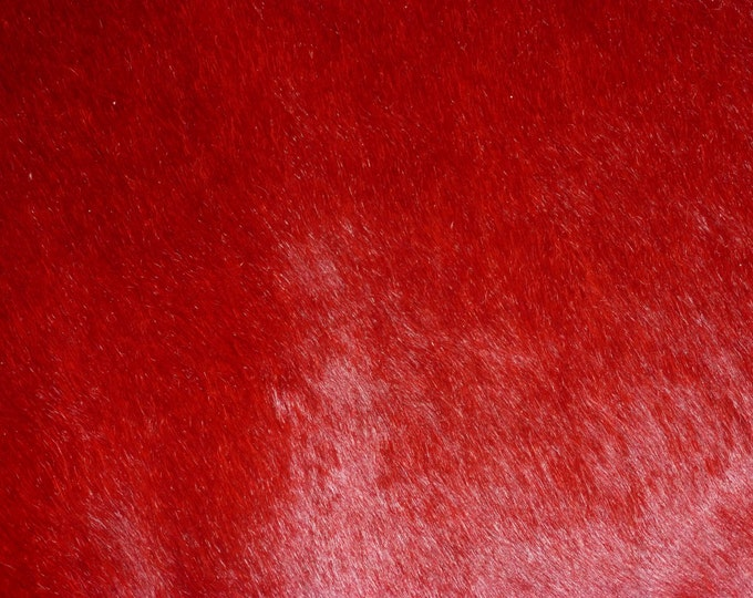 "Hair On Leather 12""x12""  Red /Dark Blood Marbled Red HOH Cowhide 4.5-4.75 oz / 1.8-1.9 mm PeggySueAlso™"