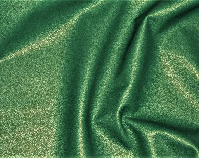 """Leather 8""""x10"""" Divine TEAL GREEN Top Grain Cowhide 2.5oz/ 1mm PeggySueAlso™ E2885-55 Hides Available"""
