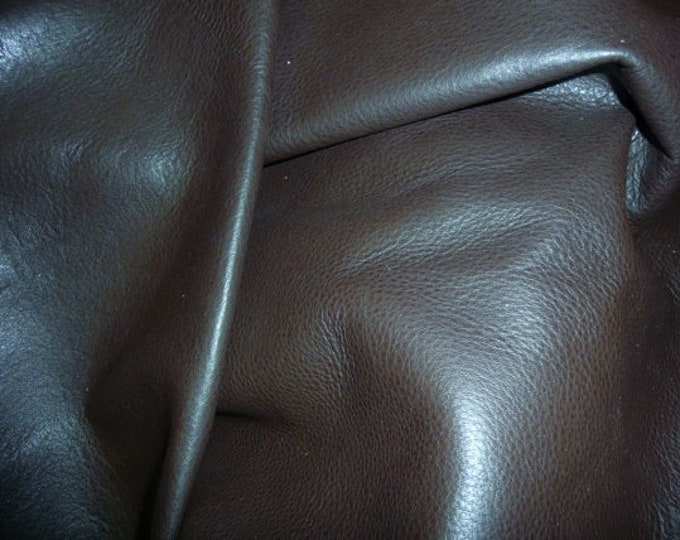 "Leather 12""x20"", 15""x15""... King DARK CHOCOLATE  Brown full grain Cowhide 3-3.5oz/1.2-1.4 mm PeggySueAlso™ E2881-09 Full hides available"