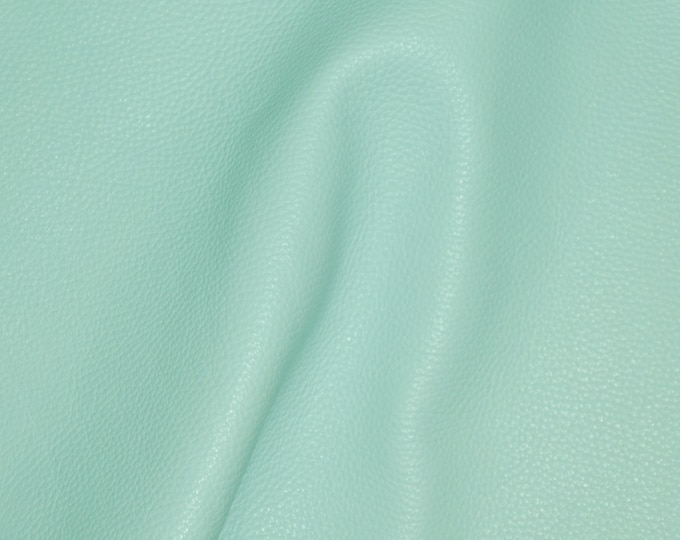 "Leather 8""x10"" Imperial MINTY Aqua Fully Finished Pebble Grain Thick Italian Cowhide 3.75-4oz/1.5-1.6 mm PeggySueAlso™ E3205-04"