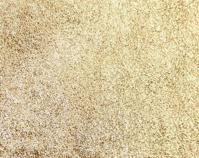 """SHINIER Metallic Leather 12""""x12""""  Pebbled GOLD shows the grain 2.5-3 oz / 1-1.2 mm PeggySueAlso™ E4100-05B hides available"""