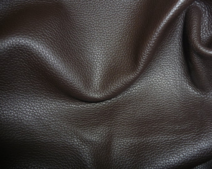 "Leather 20""x20"" Biker DARK BROWN Top grain Thick Cowhide 3-3.5 oz / 1.2-1.4mm full hides available PeggySueAlso™ E2879-04"