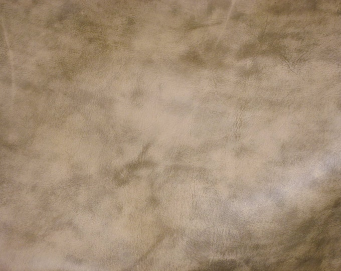 """Leather 12""""x12"""" Artisan Tie Dye CREAMY CAMEL Distressed Cowhide 4 oz / 1.6 mm - PeggySueAlso™ E2920-06 Full hides available"""