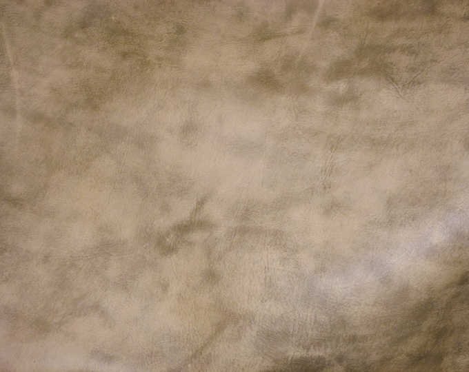 Leather 3 - 5 sq ft Artisian Tie Dye CREAMY CAMEL Distressed Cowhide 4 oz / 1.6 mm - PeggySueAlso™ E2920-06 Full hides available