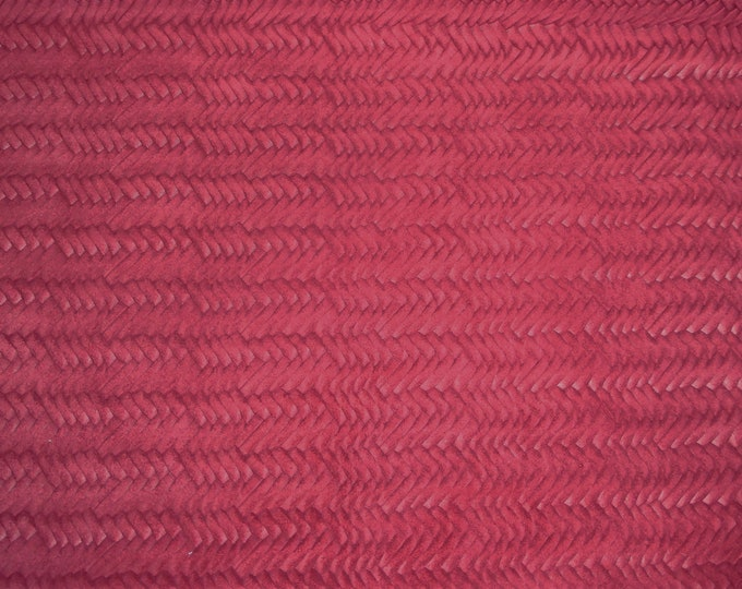 Leather 3-4-5 or 6 sq ft Braided ITALIAN Fishtail RASPBERRY Soft Cowhide 2.5-3 oz / 1-1.2 mm PeggySueAlso™ E3160-08 Hides Available