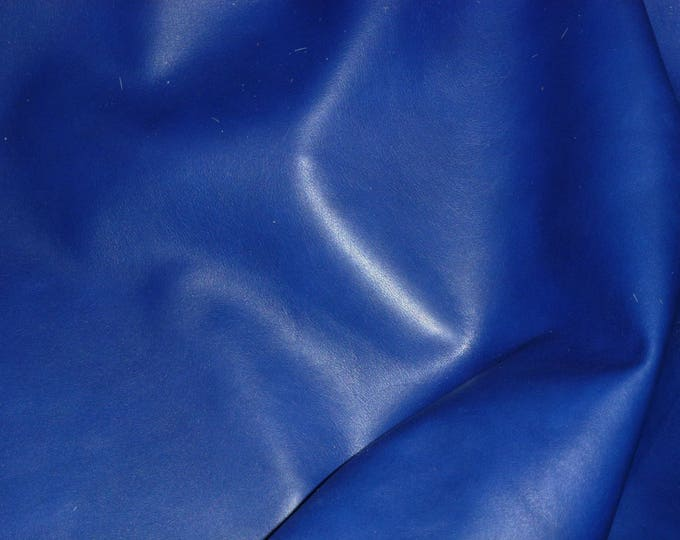 "Leather 12""x24"" Ecstacy ROYAL BLUE Calfskin Feeling cowhide THIN 1.75-2 oz / 0.7-0.8mm PeggySueAlso™ E2130-02"