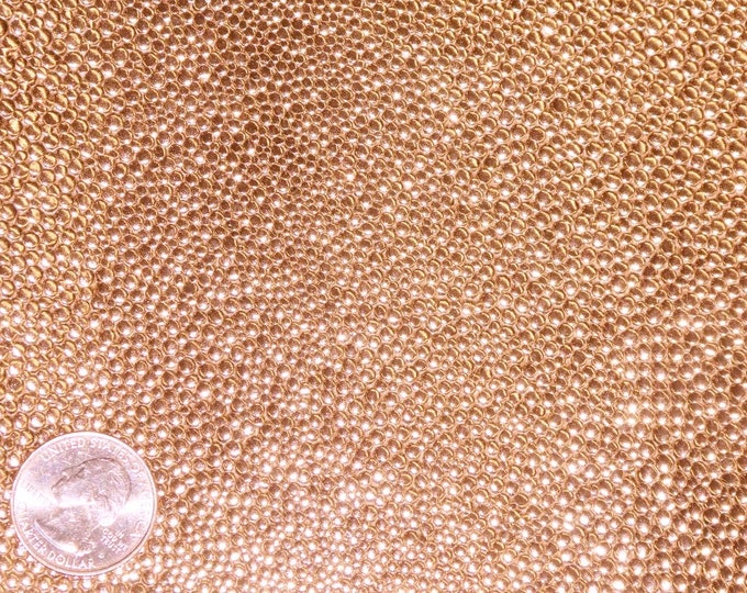 Metallic Leather 3 or 4 or 5 or 6 sq ft Beaded  Stingray ROSE GOLD Cowhide 3 oz / 1.2 mm PeggySueAlso™ E1290-46 Hides available
