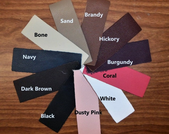 "Leather 8""x10"" BIKER line Choose from 11 colors from our Cowhide Soft Top grain Your choice of color 3-3.5 oz / 1.2-1.4mm PeggySueAlso™"