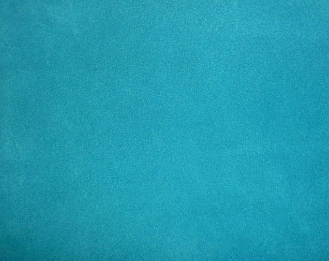 "SUEDE Leather 12""x20"" TURQUOISE BLUE Suede both sides Cowhide 3.25-3.5 oz / 1.5-1.6 mm PeggySueAlso™ E2828-07"