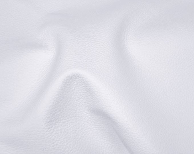 """Leather 12""""x12"""" King WHITE Full Grain Cowhide 3-3.5 oz / 1.2-1.4 mm PeggySueAlso™ E2881-12 Full hides available"""