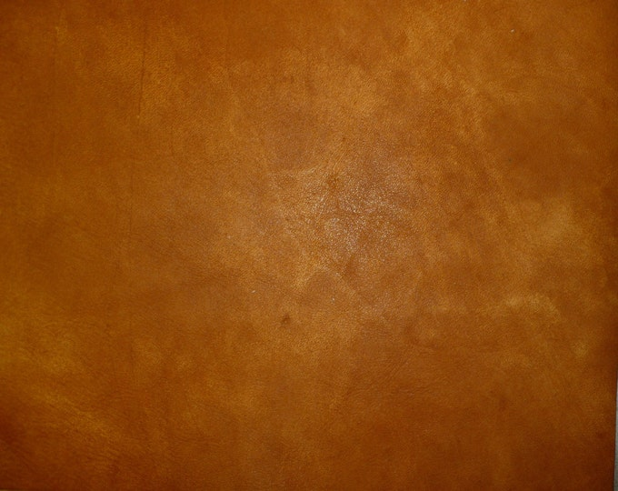 """Leather 12""""x12"""" Artisan Tie Dye HONEY / BURNT ORANGE Cowhide 3-3.5 oz / 1.2-1.4 mm PeggySueAlso™ E2920-02 Hides available"""