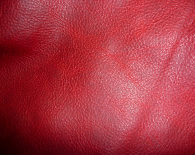 "Leather 5""x11"" or 8""x10"" PULL UP Distressed RED Cowhide 3.5-3.75 oz /1.4-1.5 mm PeggySueAlso™ E2930-07  Limited (more on order)"