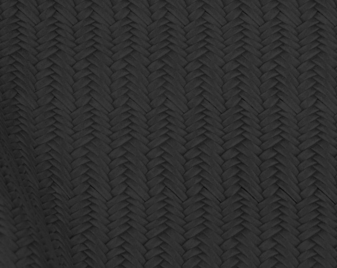 Leather 3 or 4 or 5 or 6 sq ft  BLACK BRAIDED FISHTAIL Cowhide 2.5-3 oz / 1-1.2 mm PeggySueAlso™ E3160-12 Hides Available