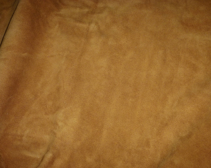 """NEW Suede Leather 12""""x12"""" FRENCH TOAST Suede Cowhide (firm for suede, not real soft) 3.5-3.75 oz / 1.4-1.5 mm PeggySueAlso™ E2826-06"""