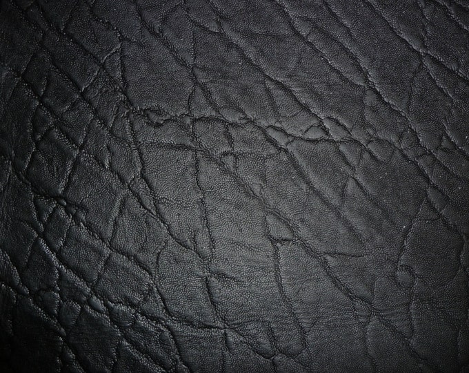 Leather Various sizes Distressed Elephant MATTE BLACK Embossed Cowhide 3-3.25 oz /1.2-1.3 mm PeggySueAlso™ Limited