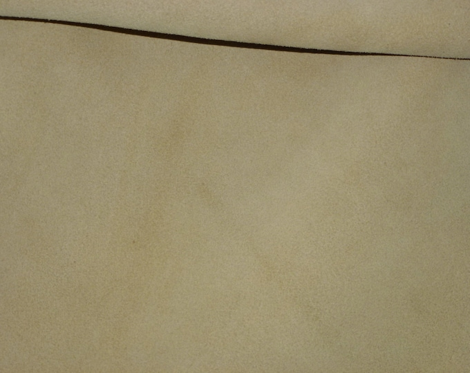 "Suede Leather 8""x10"" LINEN Cream Garment Suede 3.5-4 oz / 1.4-1.6 mm PeggySueAlso™ E2825-19 hides available"