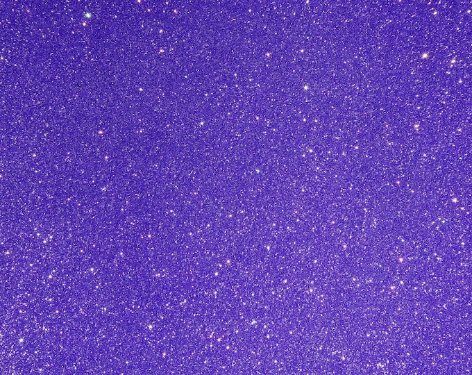 """8""""x10"""" Fine GLITTER (not chunky) DARK PURPLE Fabric applied to Leather THiCK 4.5-5.5oz/ 1.8-2.2 mm PeggySueAlso™ E4355-20"""