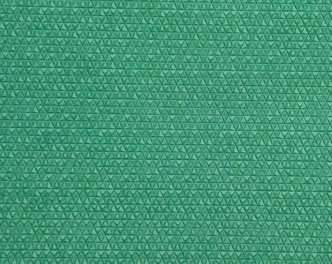 "Leather 5""x11"" Mini Triangles EMERALD / JADE GREEN  On Italian Cowhide 3 oz / 1.2 mm PeggySueAlso™ E3172-04"