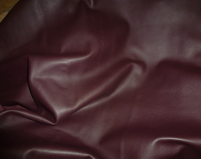 "Leather 8""x10"" Biker BURGUNDY top grain fairly thick Cowhide 3-3.5 oz /1.2-1.4mm PeggySueAlso™ E2879-10"