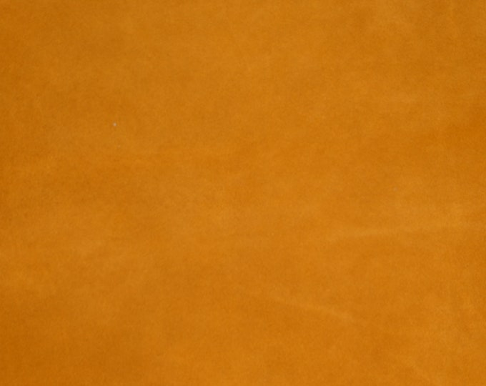 "Suede Leather 8""x10"" DARK MUSTARD Gold Cowhide THICK 4-4.5 oz / 1.6-1.8 mm  PeggySueAlso™ E2828-02 hides available"