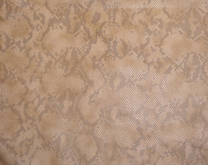 "Leather 8""x10"" Mellow PEACH URBAN TEXTURED Snake Cowhide 3-3.25 oz /1.2-1.3 mm PeggySueAlso™ E1510-02 hides available"