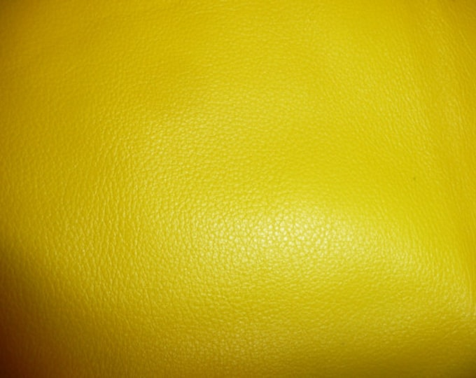 "Leather 8""x10"" Divine CANARY YELLOW top grain Cowhide 2-2.5 oz / 0.8-1 mm PeggySueAlso™ E2885-32 CLOSEOUT"