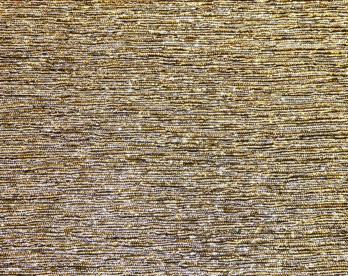 "5""x11"" Silver Gold Blended GLITTER METALLIC FABRIC applied to Leather Cowhide for firmness 3.5-4oz/1.4-1.6mm PeggySueAlso™ E4350-02"
