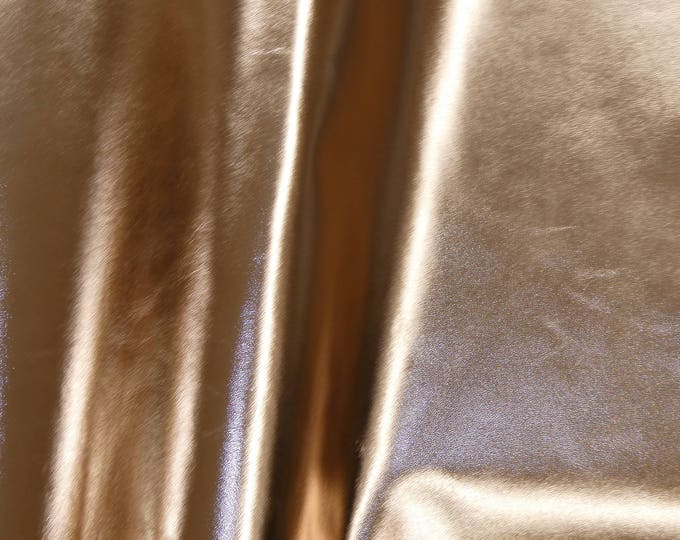 """Metallic Leather  12""""x12"""" Smooth ROSE Gold Foil Cowhide 2.25-2.5 oz / 0.9-1 mm PeggySueAlso™ E2845-19 Hides available"""