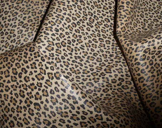 Leather 3-4-5 or 6 sq ft TEENY TAWNY CARAMEL Cheetah Two Tone Leopard NoT hair on Cowhide 3.5oz / 1.4 mm PeggySueAlso™ E6751-03 hides too