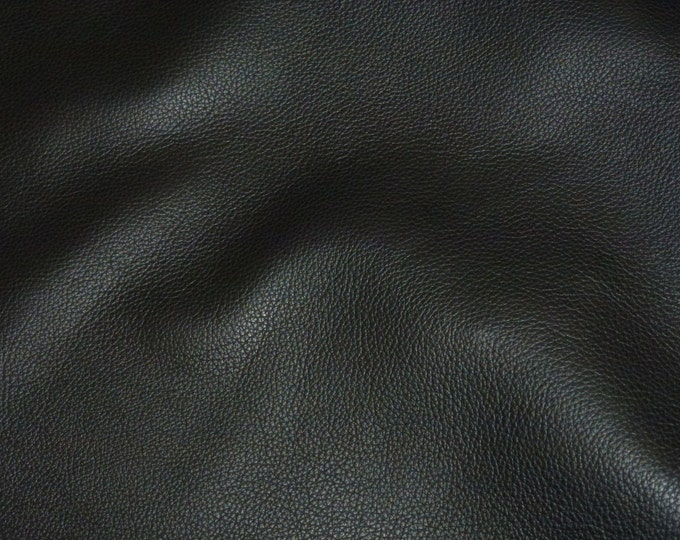 """Leather 8""""x10"""" Biker BLACK Top Grain Cowhide 3-3.5 oz / 1.2-1.4mm PeggySueAlso™ E2879-03 Hides available"""