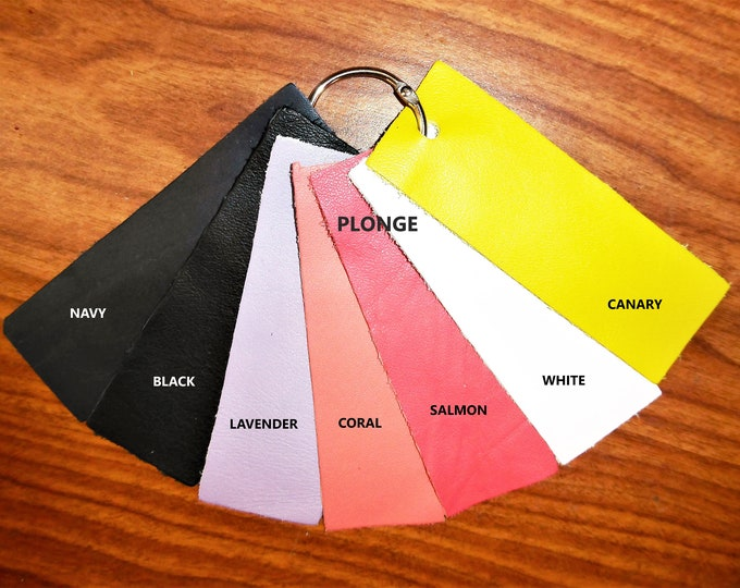 Leather 7 - 10 sq ft PLONGE Choose from 11 colors from Cowhide Soft Full grain Your choice of color PeggySueAlso™
